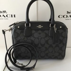 🌹Coach Mini Bennett Satchel In Signature NWT.